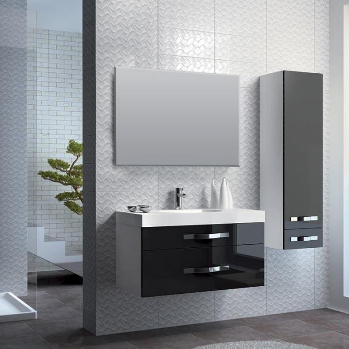 ensemble de salle bain design noir achat vente salle de bain complete ensemble de salle bain. Black Bedroom Furniture Sets. Home Design Ideas