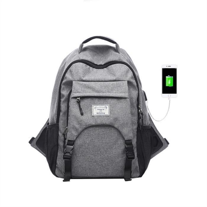 Sacs à dos pour ordinateur portable multi-fonctionnel pour hommes, Gris