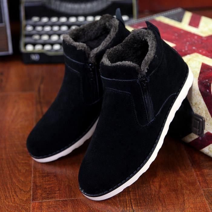 Chaud Hommes Bottes Coton En Chaussures D'hiver g4fq6