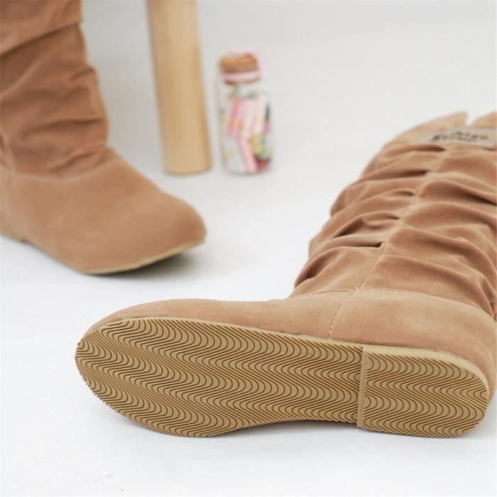 Bottes Femmes Hiver Longues Bottes Pour Femmes Élégant Confortable Plates Haute Women Shoes jaune 43