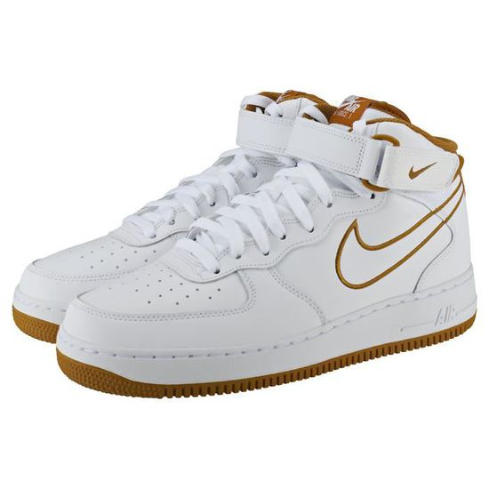 promo code 84407 c6168 Nike Air Force 1 Mid 07 Homme Baskets Blanc Bronze Blanc Blanc bronze -  Achat  Vente basket - Cdiscount