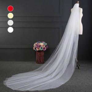 VOILAGE TYNE Voile de mariée avec bordure et peigne en den