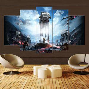 TABLEAU - TOILE Toiles imprimées 5 pièces Star War Movie Poster pi