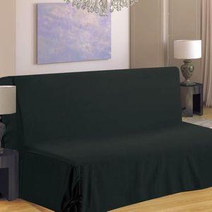 HOUSSE DE CANAPE Housse de canapé BZ Hana - Noir - 140cm et 190cm