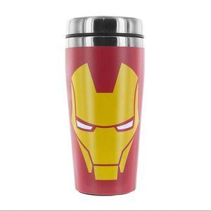 BOL - MUG - MAZAGRAN Mug de voyage rouge Marvel: Iron Man
