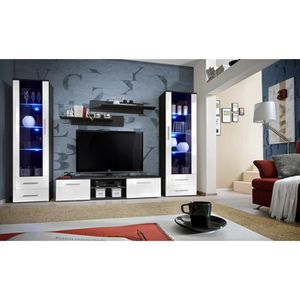 meuble tv living achat vente meuble tv living pas cher soldes d s le 10 janvier cdiscount. Black Bedroom Furniture Sets. Home Design Ideas