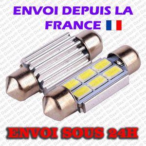 AMPOULE TABLEAU BORD 2 AMPOULE Dax® NAVETTE A 6 LED SMD EN TAILLE 41 MM
