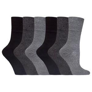 a60b042ca4c CHAUSSETTES Gentle Grip - 6 paires femme coloré chaussettes di