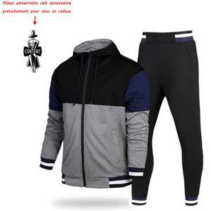 fb21489dbe8 PULL (Veste+Pantalon) Survêtement Homme 2 Pièces Ensemb