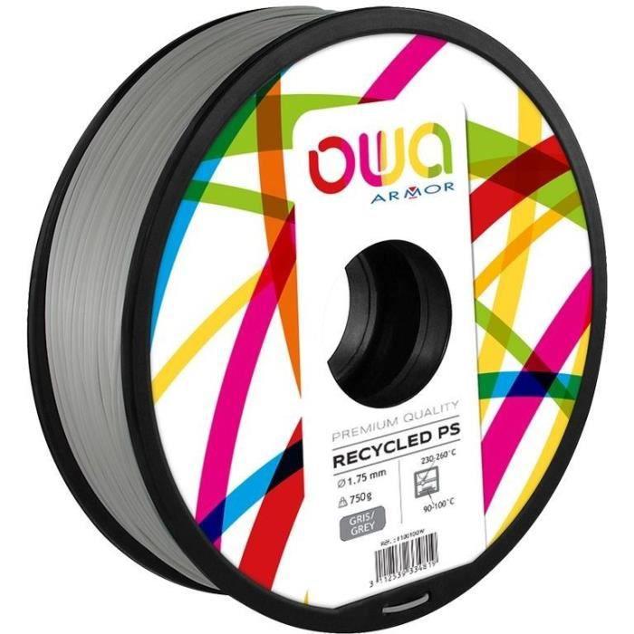 OWA Bobine de Filaments pour imprimante 3D - PS - Gris