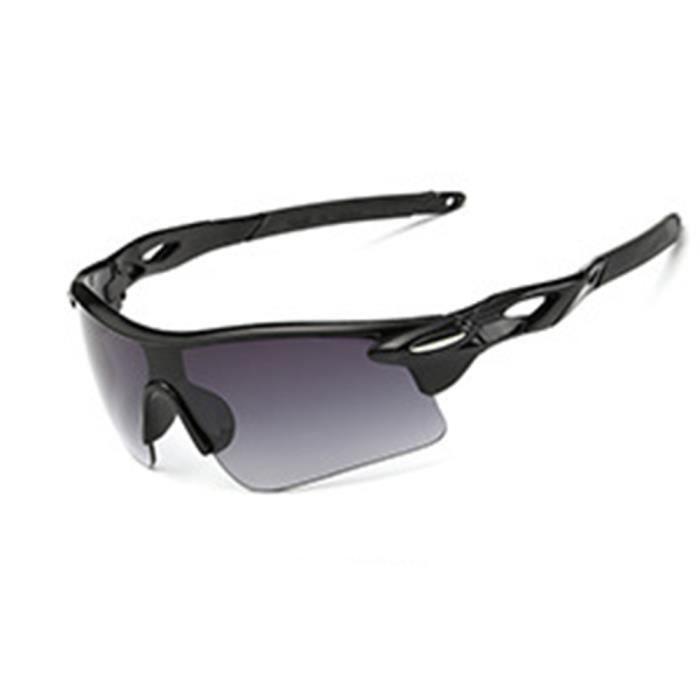 Lunettes de soleil mixte homme et femme sport de Fashion Protection Cadre sunglasses Anti-déflagrant Noir/Noir