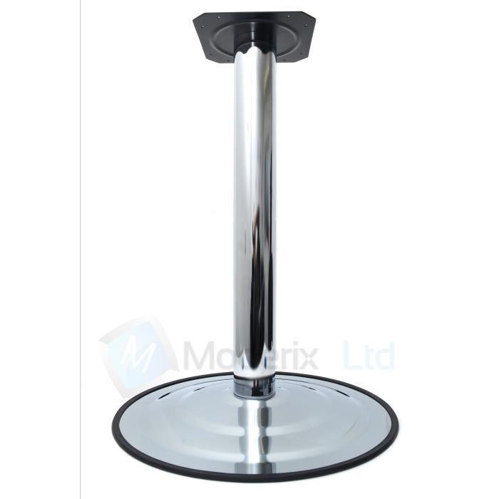 pied de table pied de table de bar chrome 735mm x 495mm - Pied Table De Bar