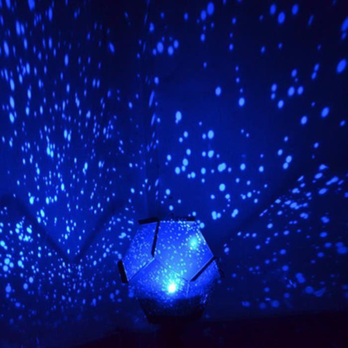 Diy romantique fantaisie etoiles ciel nuit lampe projecteur chambre d coration lumi re bleu for Projecteur etoile exterieur