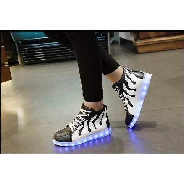 baskets-Hommes de recharge USB lumière lumineuse émettant chaussures chaussures chaussures lumières baskets LED nKg3k638T2