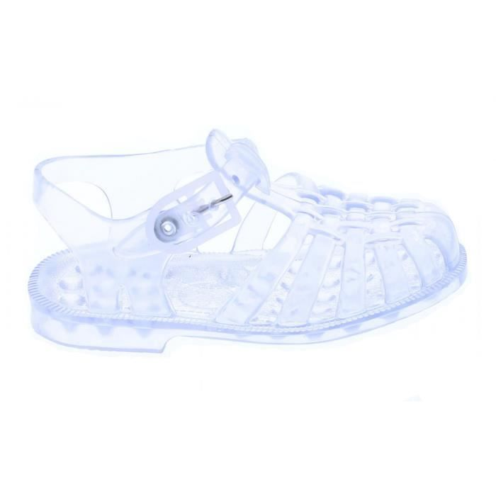 Sandales en plastique enfant transparent - Blanc