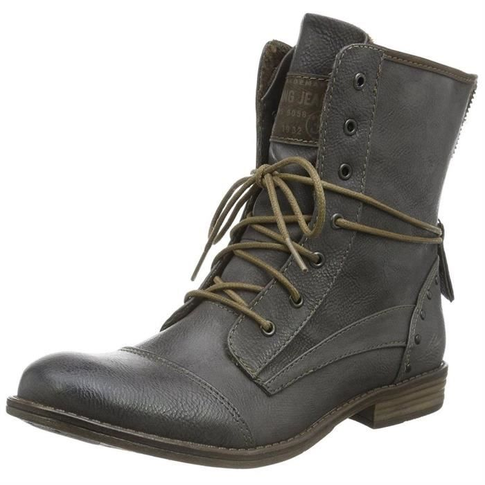 Bottines   low boots 1157-508 femme mustang 1157-508 Gris Gris ... 9a12256907ee