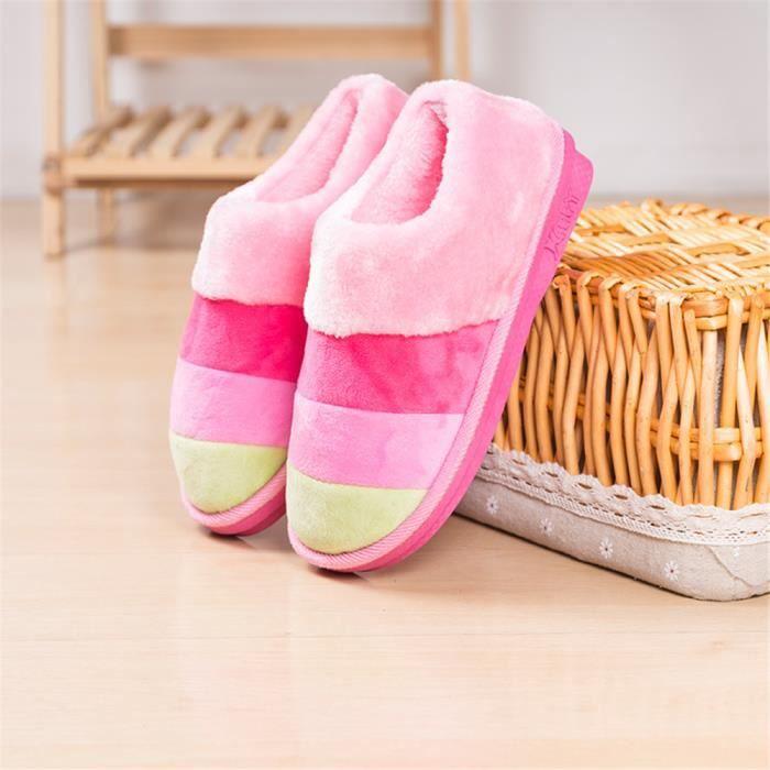 Rainbow Chaussons Confortable Flanelle à Capuche De Marque De Luxe Qualité Supérieure Chaussure Plus De Couleur Plus Taille 36-41