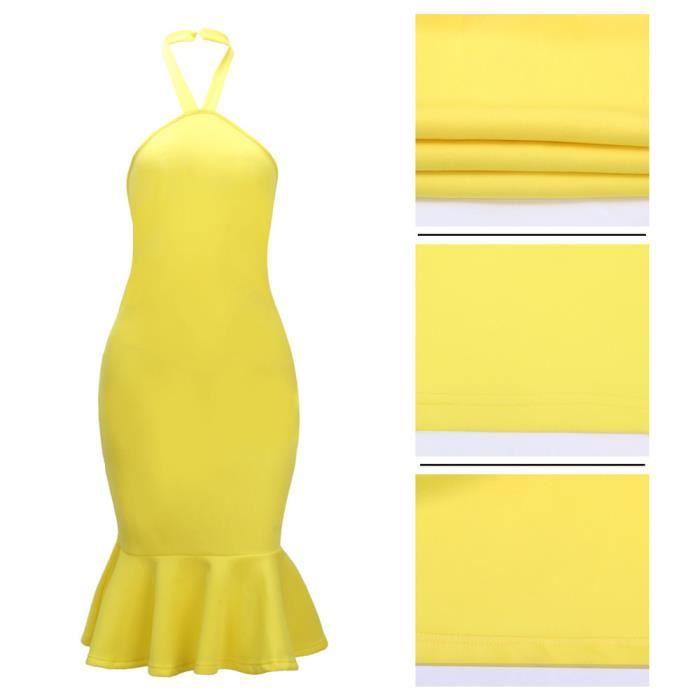 CUSSELEN Femmes Robe de soirée Sans enroulé Haute taille Vetements Grande Taille s-xlAdulte