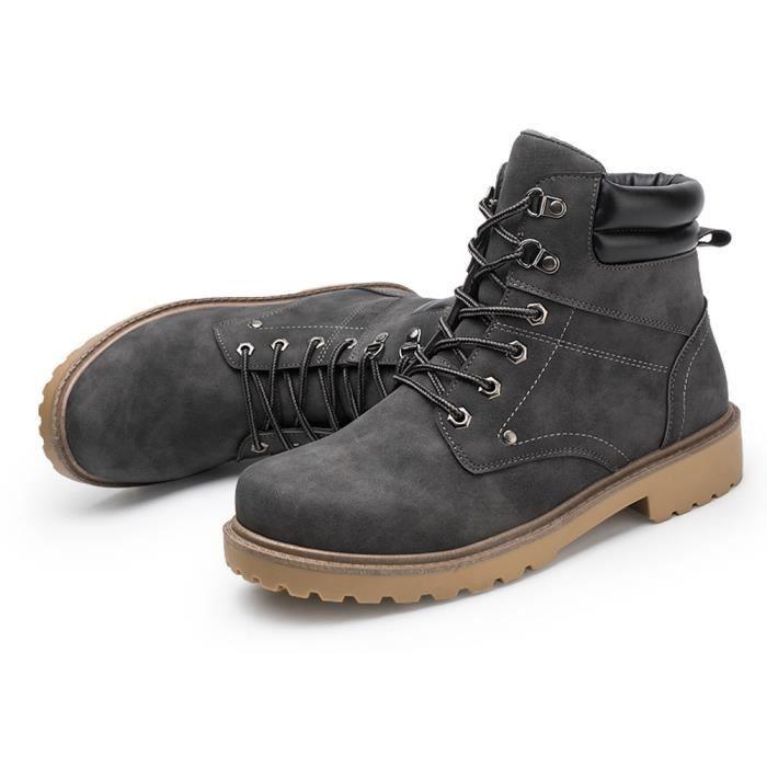 deuxsuns®Hommes Low cheville garniture plate cheville automne hiver bottes occasionnels Martin chaussures