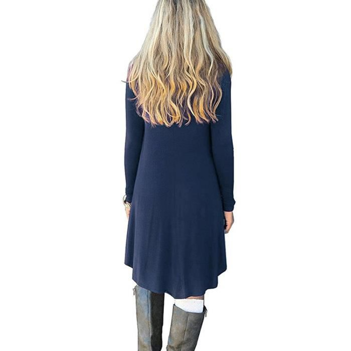Womens Casual Dress Loose Long Sleeve T-shirt By 2YLUQ5 Taille-40