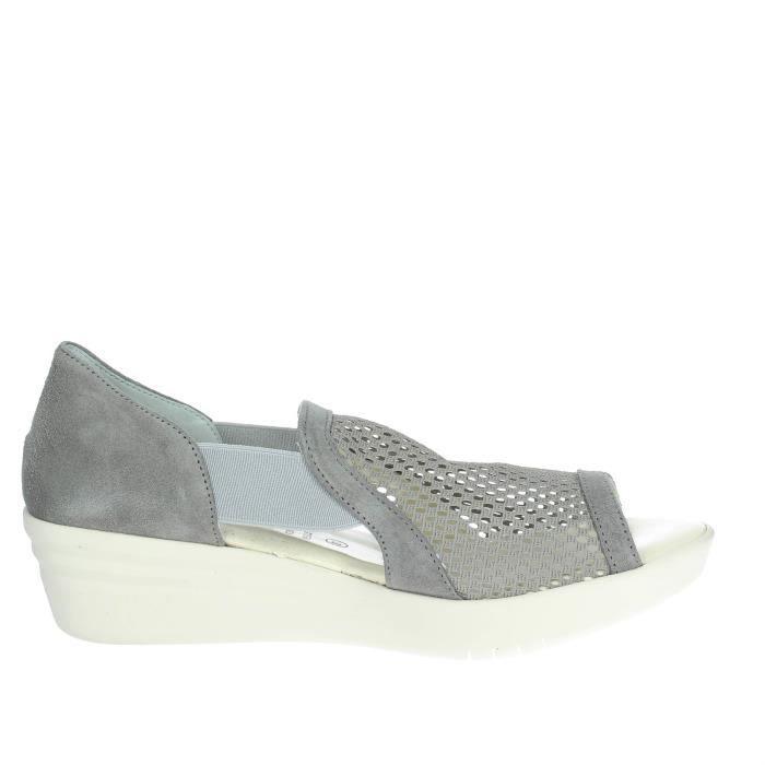 Cinzia Soft Open Toe Chaussures Femme Gris, 38