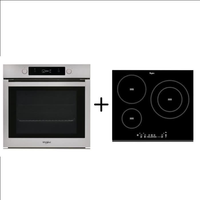 WHIRLPOOL OAKP9481CIX Four électrique - Chaleur tournante - 73 L + ACM860BF - Plaque de cuisson indu
