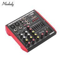 TABLE DE MIXAGE Console de mixage 4 canaux Muslady D4 Portable Con