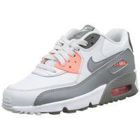 Nike Air Max 90 jeunes formateurs en cuir ABQO3 Taille-35 G7Q7O00