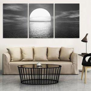 objet dcoration murale blanc noir lune hd imprim toile art mur images po
