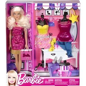 POUPÉE Barbie + 2 tenues