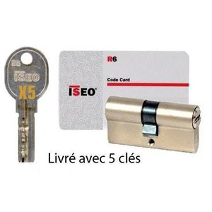 SERRURE - BARILLET Cylindre 30x30 mm ISEO R6