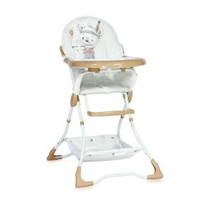 CHAISE HAUTE  Chaise Haute pour bébé BONBON Beige Lorelli