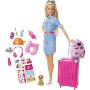 POUPÉE BARBIE - Barbie Voyage - Coffret Poupée Mannequin
