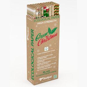 PAPIER CADEAU SAPIDAL Papier cadeau écologique - 1 Rouleau 1x2m