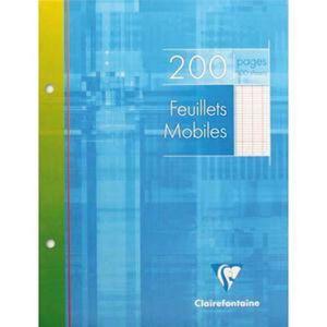 FEUILLET MOBILE Lot de 5 Feuillets mobiles, Format 17 x 22 cm, 200
