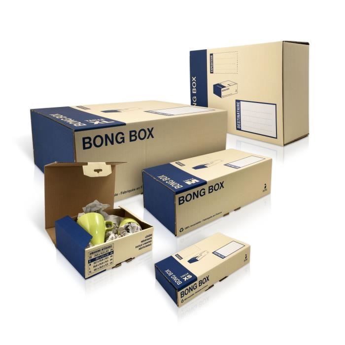 OXFORD Boîte d'expédition Bong box XS - 28 cm x 25 cm x 1 cm