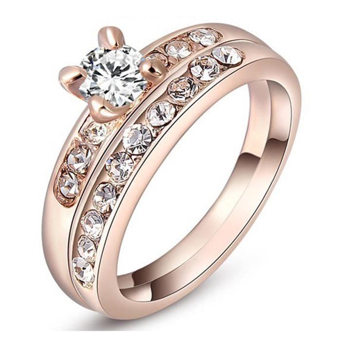 Anneau Taille Mariage Fiancailles D'or De Bague 5 Diamants Avec xrCBWdeo