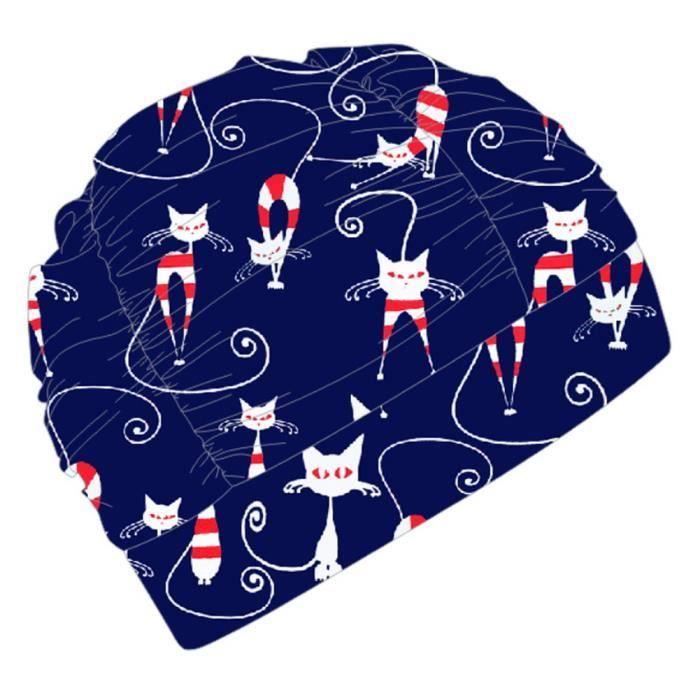 Casquettes de natation confortables de mode d'hommes et de femmes, chatons bleu marine