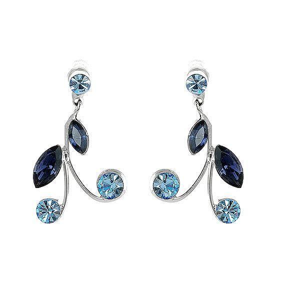 Boucles d 39 oreilles bleu achat vente pas cher cdiscount - Boucle d oreille swarovski pas cher ...