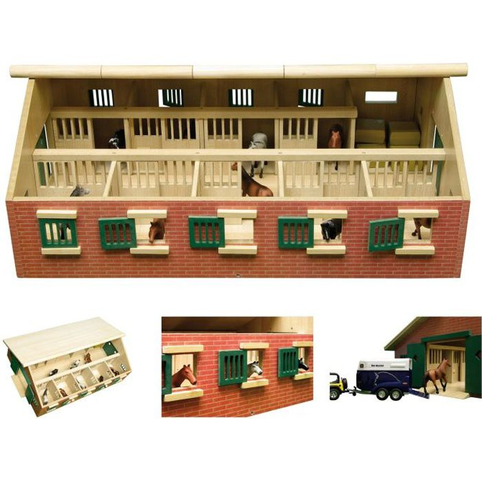 1 32 ecurie en bois avec 10 box echelle 1 32 achat for Achat box garage lyon
