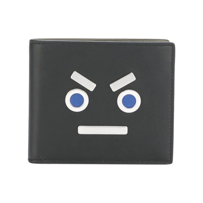 FENDI HOMME 7M0169SL9F0R2T NOIR CUIR PORTEFEUILLE Noir - Achat ... a3669354e0e