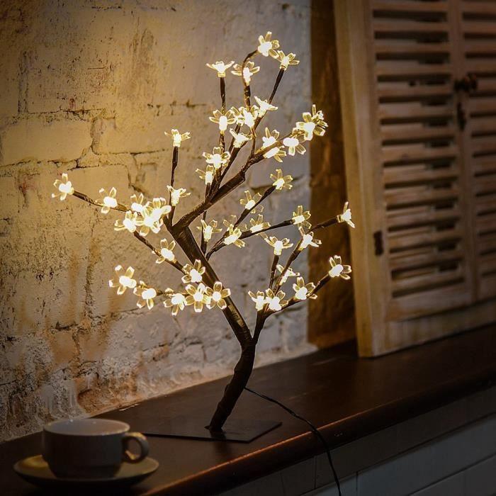 Lumineux Led Lampe De Cerisier 48 Fleurs Des Lumieres D Arbre De