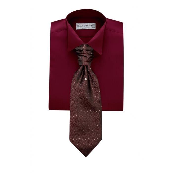 chemise de soir e rouge bordeaux rouge achat vente chemise chemisette cdiscount. Black Bedroom Furniture Sets. Home Design Ideas