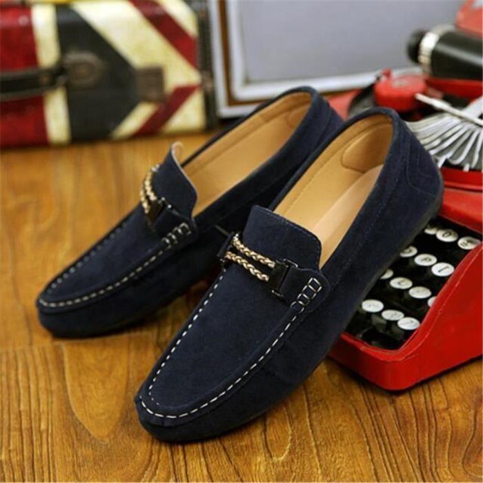Mocassin Homme Marque De Luxe Beau des chaussures de conduite Hommes Nouvelle Mode Brand Moccasins Mode Plus De Couleur 0UtE4uS1