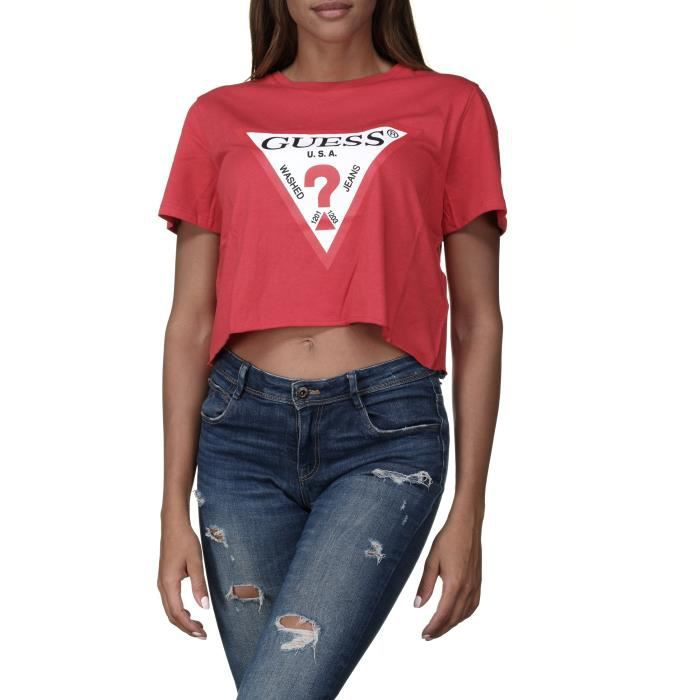 Tee shirt femme Guess O84i11 - I3z07 G592 Rouge Rouge Rouge - Achat ... 682bb3633c6