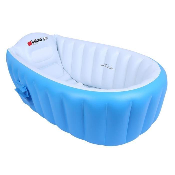 Baignoire Gonflable Pliante Pour Bebe Bleu Gonflable Independant