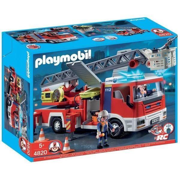 playmobil 4820 camion de pompiers grande echelle - Playmobil Pompier