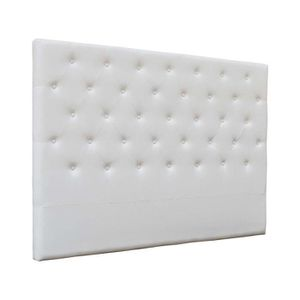 tete de lit 160 blanc capitonne achat vente pas cher. Black Bedroom Furniture Sets. Home Design Ideas