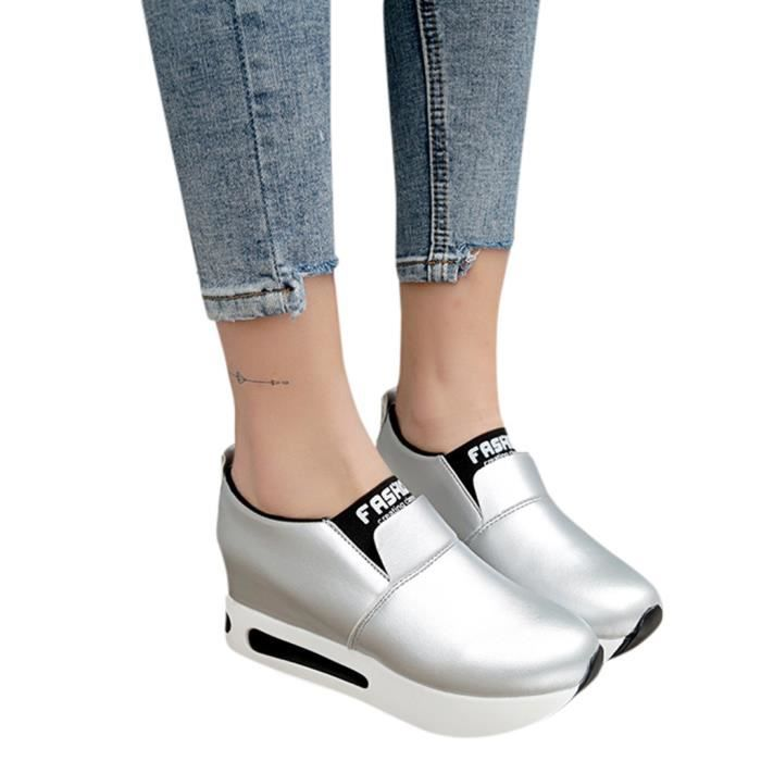 forme on Mode Femmes Compenses Modehall Casual Thick Chaussures 295 Plate Sport Slip Sneakers SxEYwYdRq