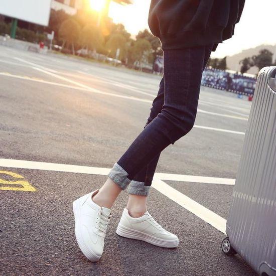 Basket femme ete sport - Blanc Respirant BJ-XZ1053 ultra leger chaussures femme BJ-XZ1053 Respirant Noir Noir - Achat / Vente basket d6fe02